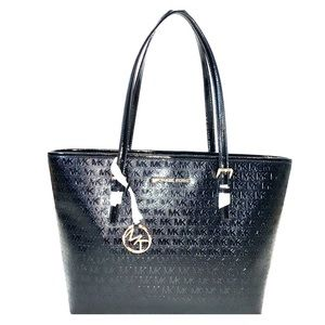 MICHAEL KORS Tote Hand Bag Black Patent Leather